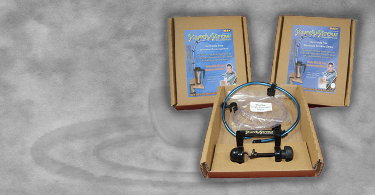 Sturdystraw with clamp available in two lengths (45cm & 65cm approx) with or without non-return valves Easily attached to most flat surfaces whenever and whenever.